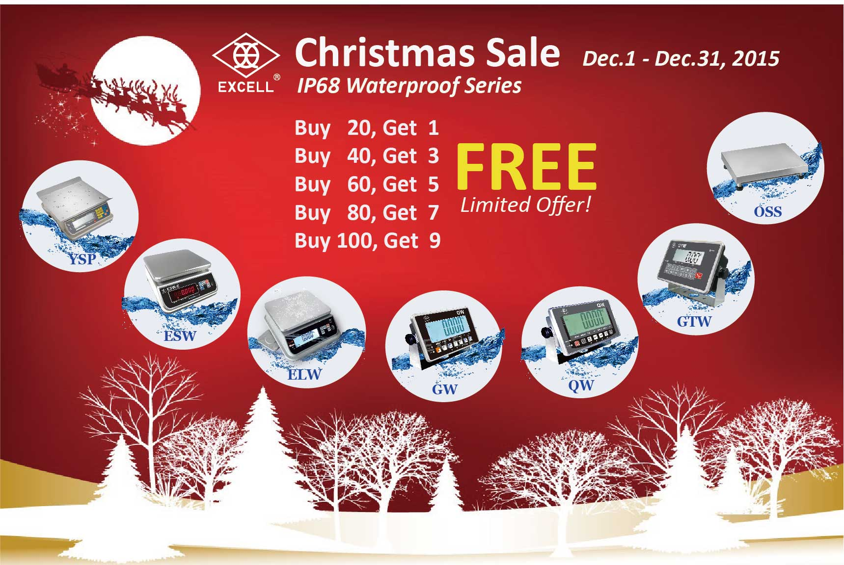 Christmas Loan Promotions.Excell Launches Christmas Sales Promotion On Ip68 Waterproof